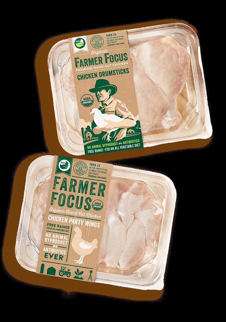 Farmer Focus Organic Chicken Packaging Designs