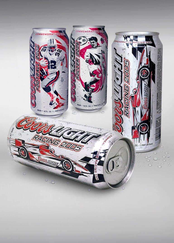 coors light beer can marketing design illustration